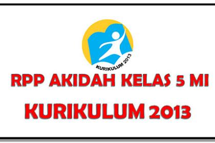 RPP Akidah Kelas 5 KK 13 Semester 2