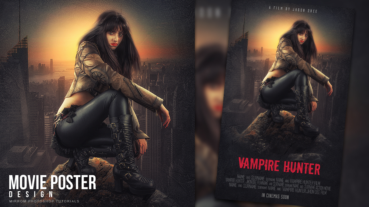 Make a Movie Poster With Grunge Texture In Photoshop