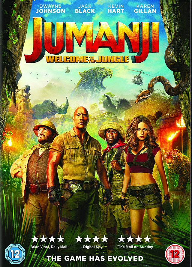 JUMANJI: WELCOME TO THE JUNGLE uk dvd
