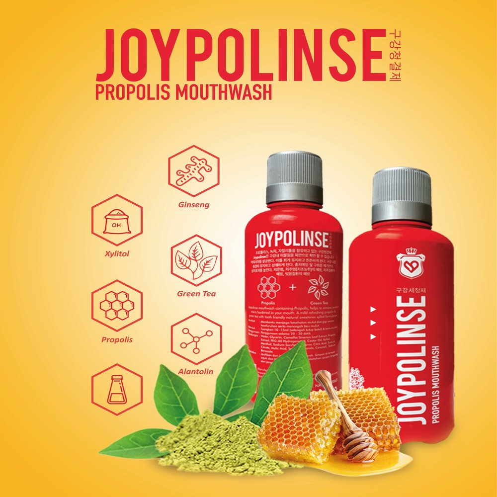 Joypolinse Propolis Mouthwash Obat Kumur Herbal Made in Korea