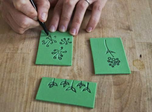 Adesivo De Flores Para Roupas ~ Carimbo fácil de EVA com passo a passo Artesanato Fácil carimbo e como faze