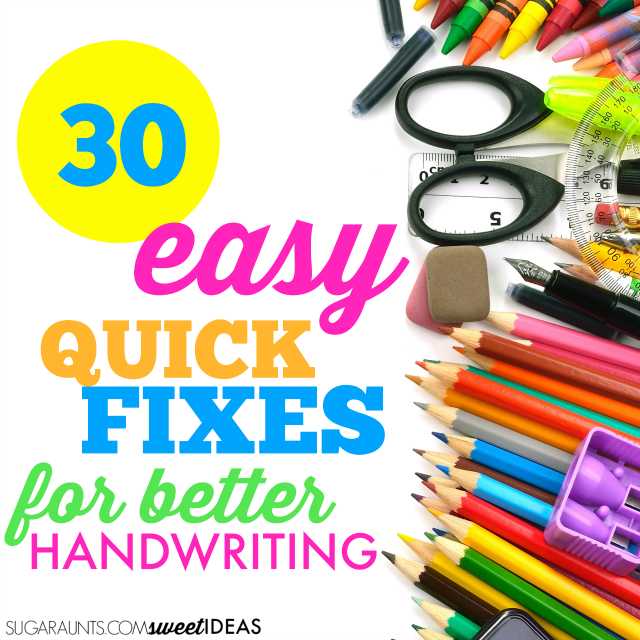 Easy Handwriting Tips and Tricks