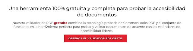 trozo de la pagina de descarga de CommonLook PDF Validator