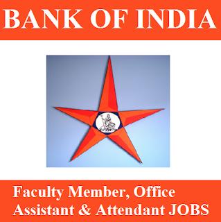 Bank of India, BOI, Maharashtra, Bank, 10th, Faculty Member, Office Assistant, Attendant, freejobalert, Sarkari Naukri, Latest Jobs, boi logo