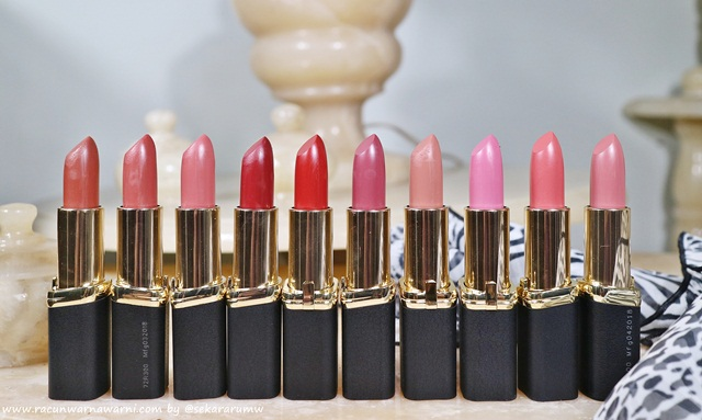 10 Best Seller Shades L'oreal New Color Riche Matte Lipstick