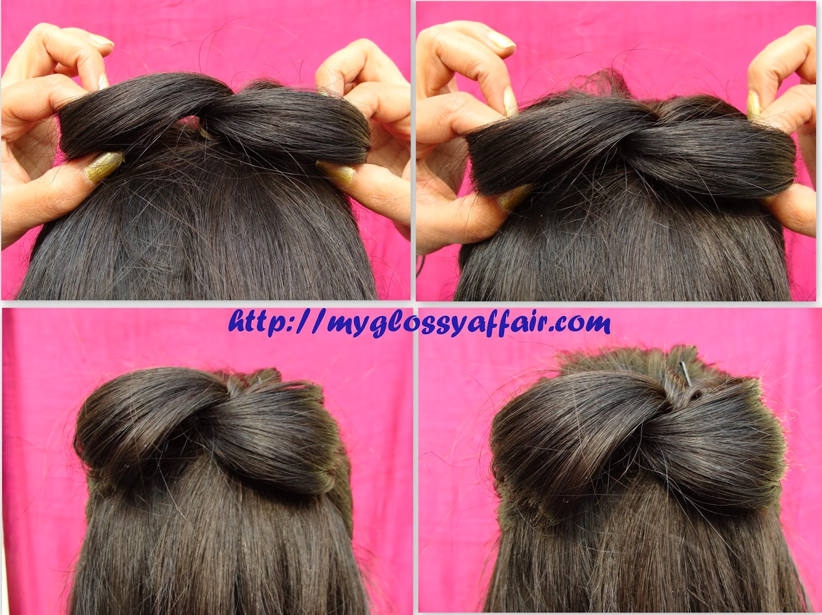 A Simple Bow Hairstyle for Medium/Long Hair