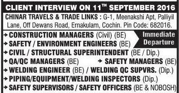 Mechanical construction project jobs in NSH Corporation Kuwait