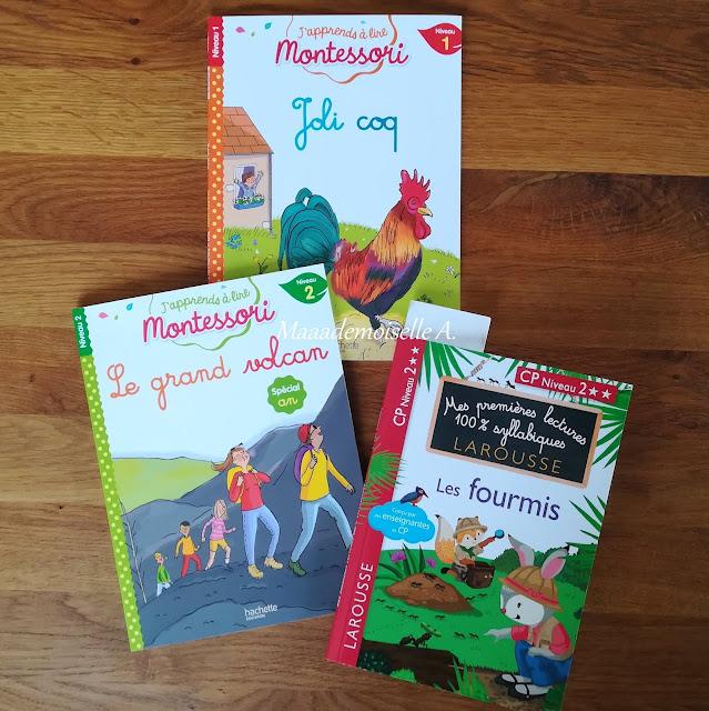 Livres de première lecture - Joli coq - Le grand volcan - Les fourmis