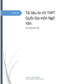 Tài Liệu Ôn Thi THPT Quốc Gia Môn Ngữ Văn - Trần Quang Lộc