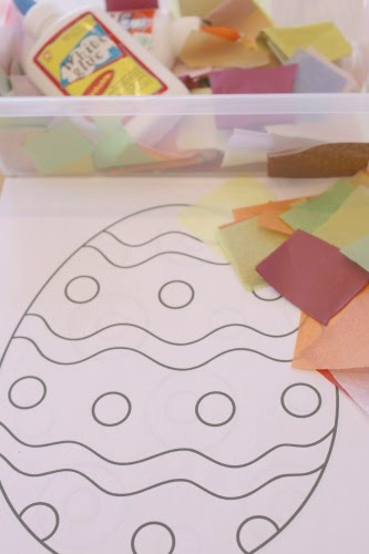 easter egg tissue paper art and craft