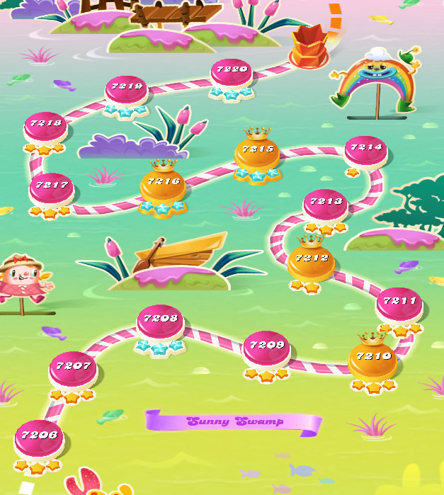 Candy Crush Saga level 7206-7220