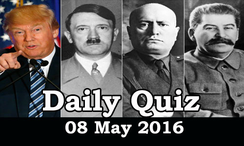 Daily Current Affairs Quiz - 08 Jun 2016