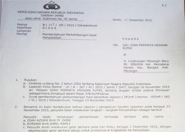 Polda Jambi Diminta Ungkap Tuntas Kasus Penipuan Cpns Total Rp 4