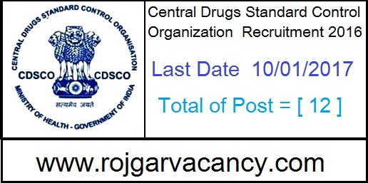 12-assistant-chemist-cdsco-recruitment-Central-Drug-Standard-Control-Organisation-North-Zone-C-G-O-Building-I-Kamla-Nehru-Nagar-Hapur-Chungi-Ghaziabad