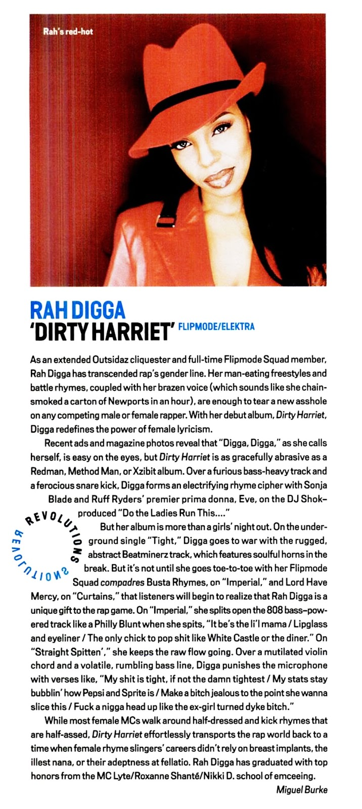 Rah Digga Dirty Harriet Vibe Magazine 2000
