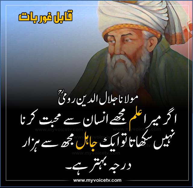 اقوال زرین 1: مولانا جلال الدین رومی ؒ کا خوبصورت قول