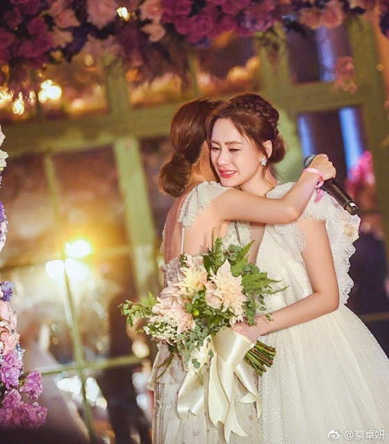 Gillian Chung beautiful bride 2018 wedding LA