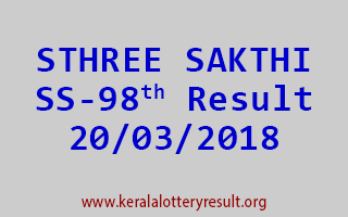 STHREE SAKTHI Lottery SS 98 Results 20-03-2018