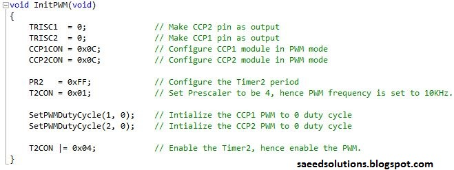 pic pwm example codes