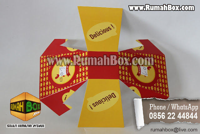 Cetak Dus Kemasan Fried Chicken unik ~ Rumah Box