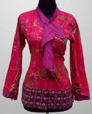 desain baju batik kantor wanita