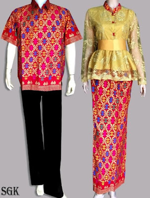 Baju Kebaya Batik Couple Modis