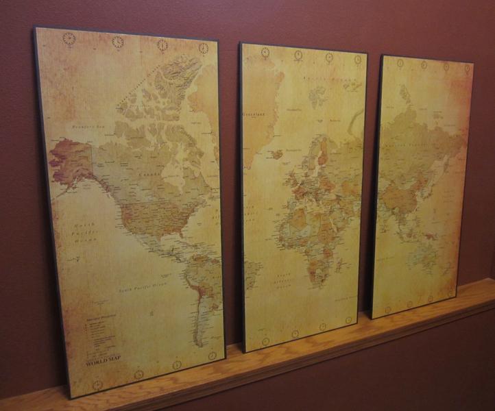Little House On The Corner: World Map Wall Decor: $50 DIY