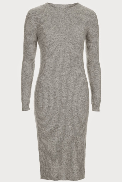 grey cashmere dress