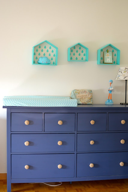 cómoda cambiador habitación bebé a golpe de objetivo