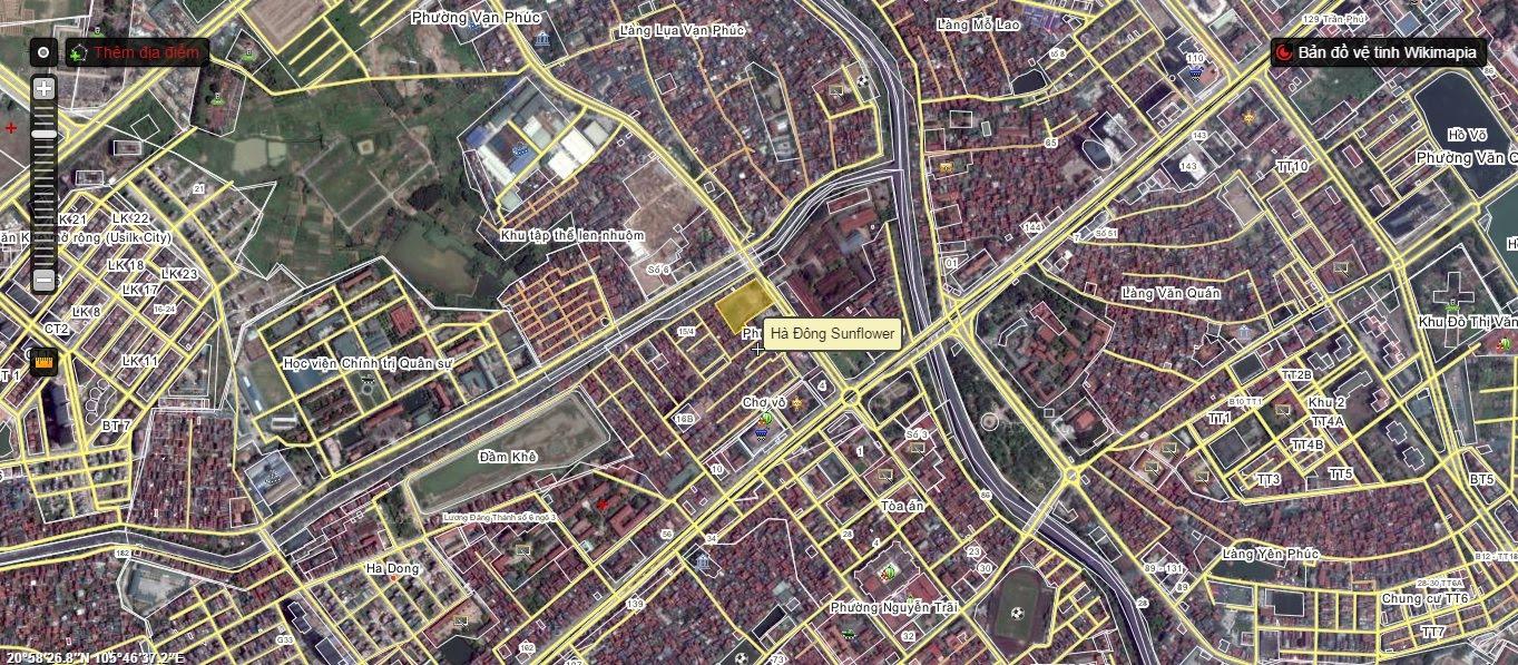 Vị trí chung cư Sunrise Complex Hà Đông