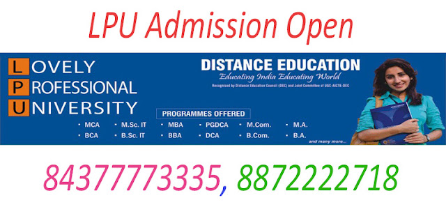 MA Distance / Correspondence Education From LPU in mohali
