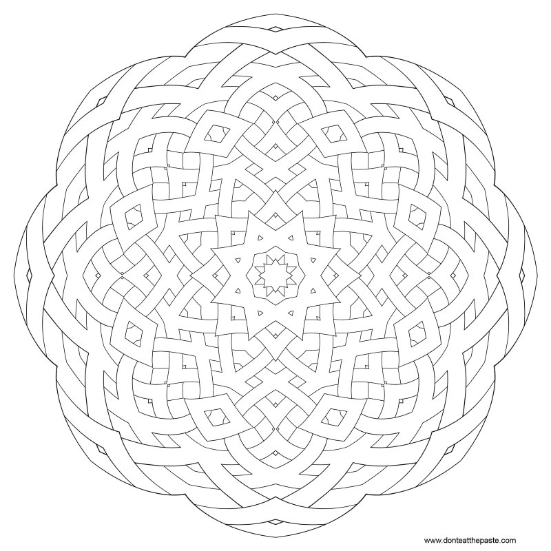 don t eat the paste pattern mandalas to color