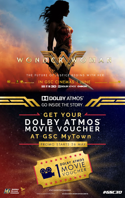 GSC MyTOWN Free Dolby Atmos Movie Voucher Wonder Woman Promo