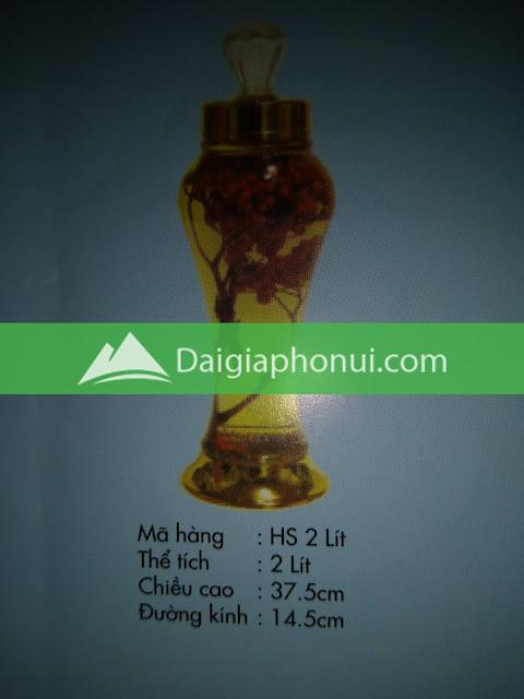 thông số bình ngâm rượu Phú Hoà mã số HS 2 LÍT