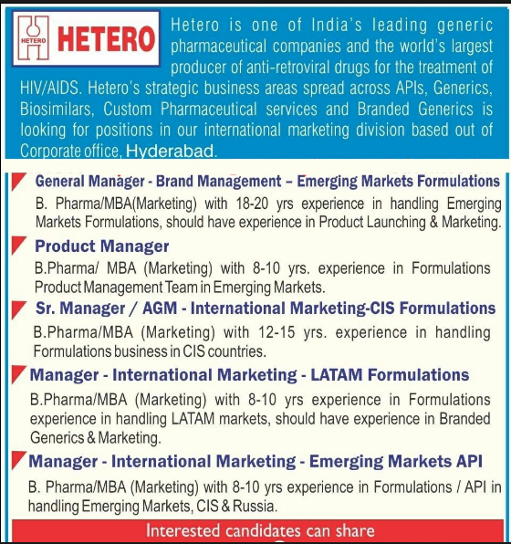 HETERO - Urgent Hiring GM / Product Manager / Sr Manager / AGM
