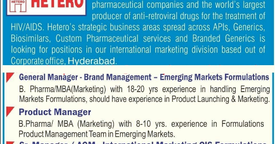 International Pharma Companies In Hyderabad