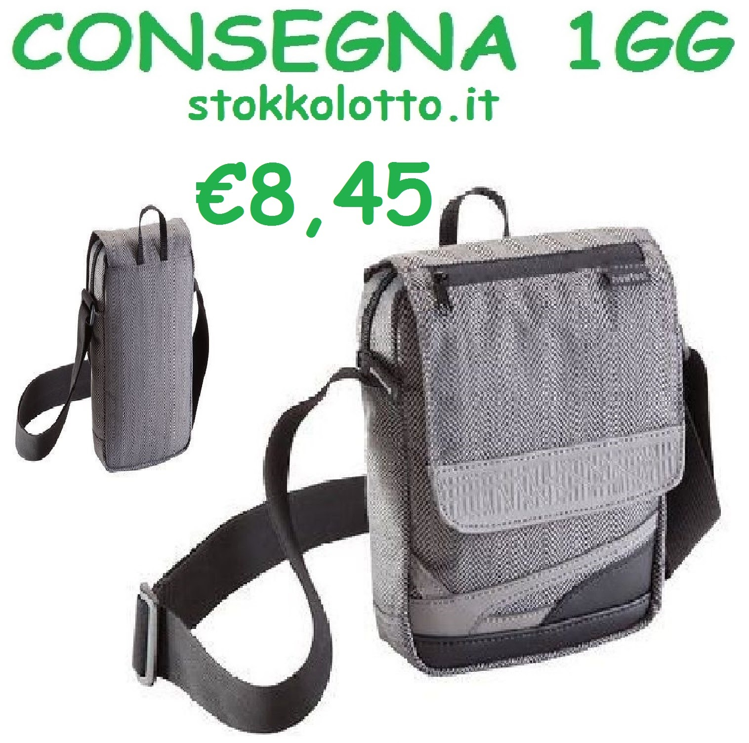 miglior sito web 9407a d5fc5 €8,45 - Elegante Borsello colore bello effetto grigio ...
