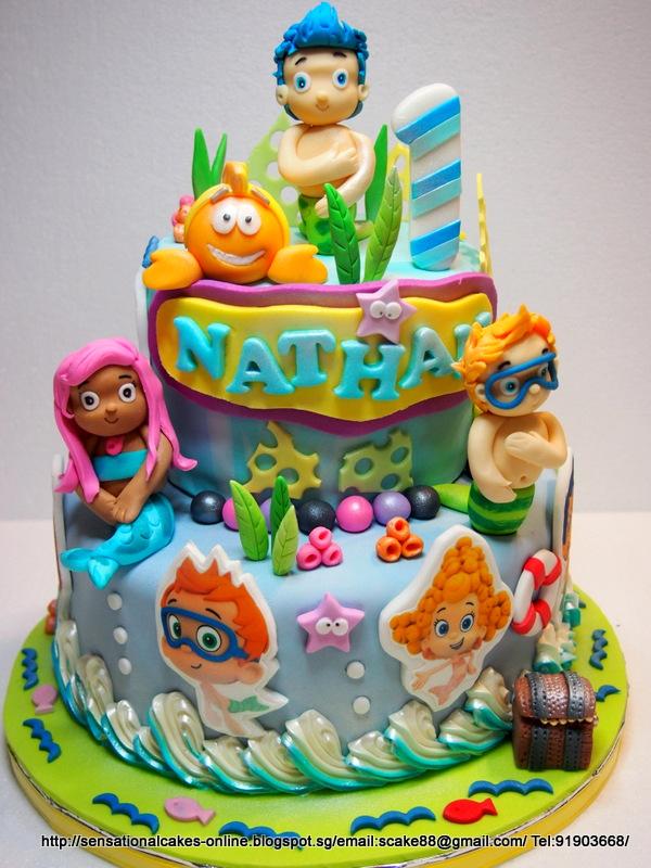 The Sensational Cakes: BUBBLE GUPPIES CAKE THEME SINGAPORE