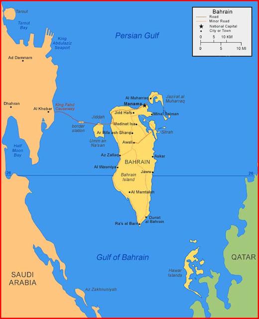 Gambar Peta Bahrain