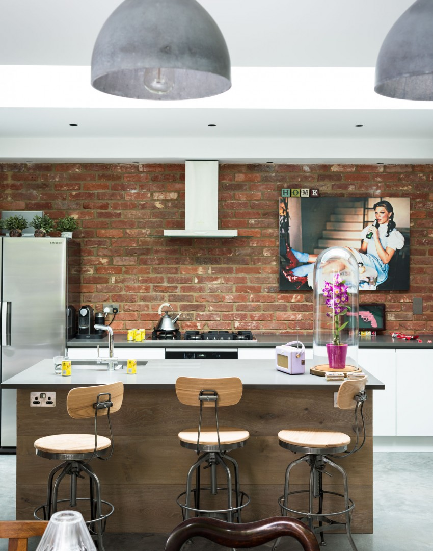 Decordemon modern industrial home in london for Industrial style kitchen