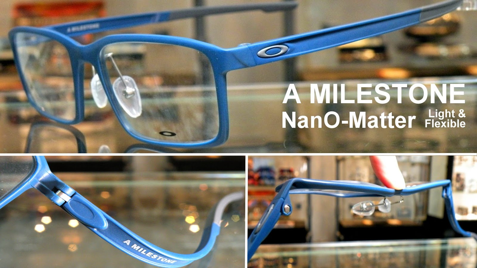 Oakley 眼鏡架 A MILESTONE blue color NanO-Matter