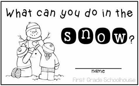 First Grade Schoolhouse: Snow and Snowmen