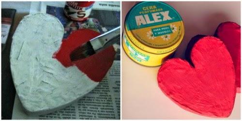 Paso a paso como hacer un corazón de papel maché