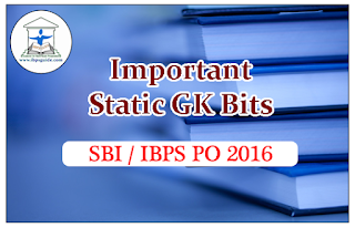 Important Static GK Bits for (Stock Exchanges) SBI / IBPS PO Exams 2016
