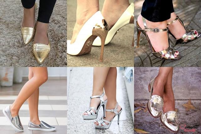 Sapato Metalizado