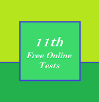 11th Standard 1 Marks - Free Online Test - English Medium