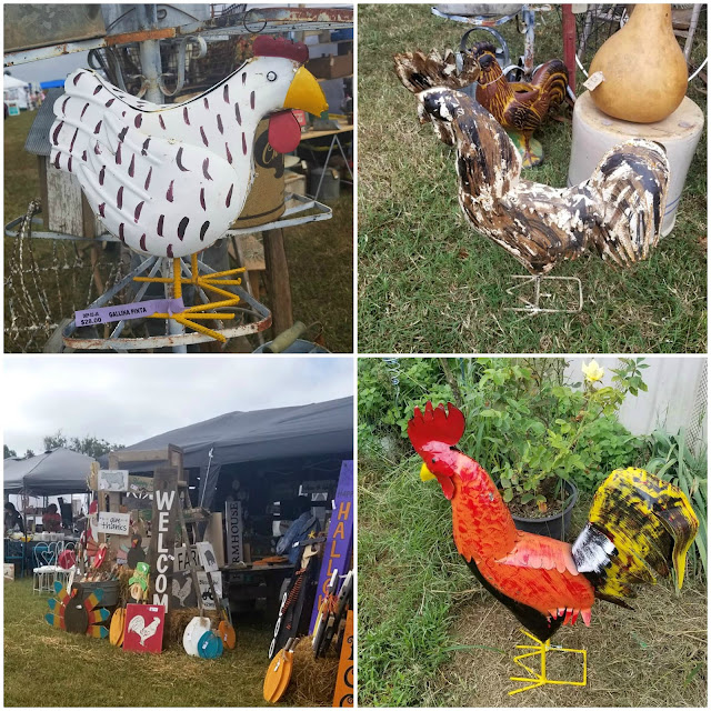 Metal chickens are a popular decor item with chicken lovers.