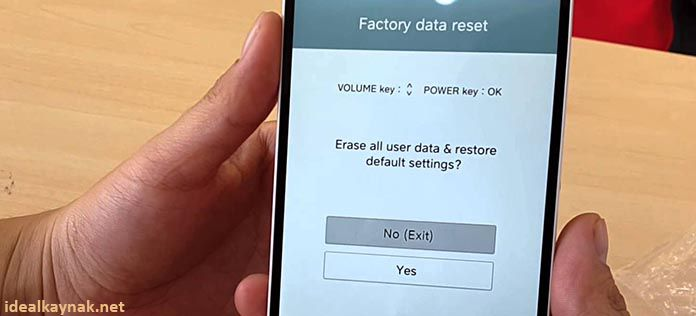LG factory data reset