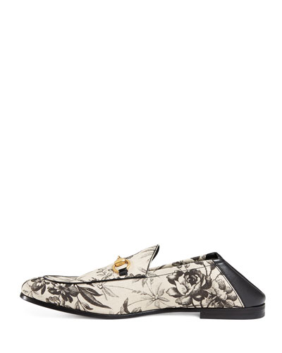 3077a1b85ef Haute Herbals  Gucci Herbarium-Print Leather Fold-Down Loafer ...