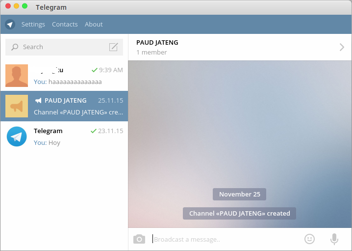 Telegram Messenger for Linux With File Transfer Feature
